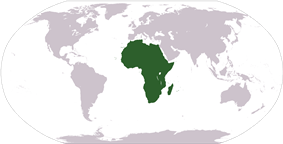 Location of Africa