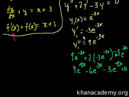 Intro to differential equations : What i... Volume Differential Equations series by Sal Khan