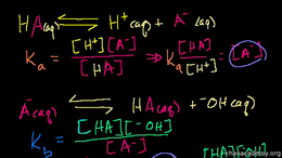 Acids and bases : pKa and pKb Relationsh... Volume Science & Economics series by Sal Khan