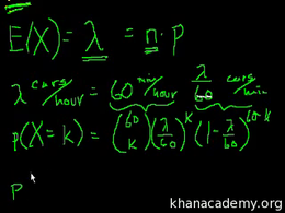 Poisson process : Poisson Process 1 Volume Probability and statistics series by Sal Khan