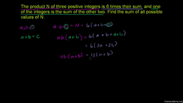 Competition Math : 2003 AIME II Problem ... by Sal Khan