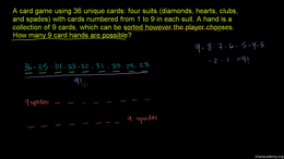 Permutations and combinations : Example:... Volume Trigonometry and precalculus series by Sal Khan