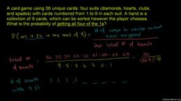 Probability using combinatorics : Exampl... Volume Trigonometry and precalculus series by Sal Khan
