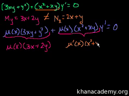 Exact equations and integrating factors ... Volume Differential Equations series by Sal Khan