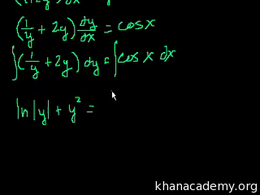 Separable equations : Separable differen... Volume Differential Equations series by Sal Khan
