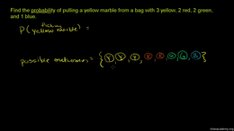 Basic probability : Example: Marbles fro... Volume Trigonometry and precalculus series by Sal Khan