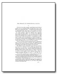 The Theory of International Values by