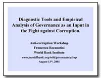 Diagnostic Tools and Empirical Analysis ... by The World Bank