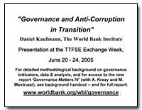 Governance and Anti-Corruption in Transi... by Kaufmann, Daniel