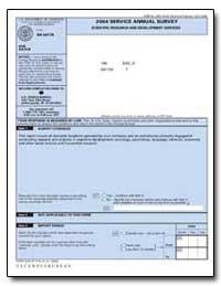 2004 Service Annual Survey Scientific Re... by U. S. Census Bureau Department