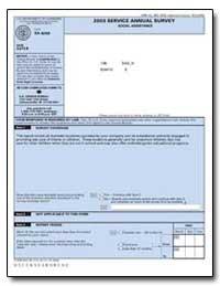 2003 Service Annual Survey Social Assist... by U. S. Census Bureau Department