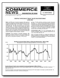 Monthly Wholesale Trade: Sales and Inven... by U. S. Census Bureau Department
