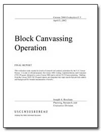 Block Canvassing Operation by Burcham, Joseph A.