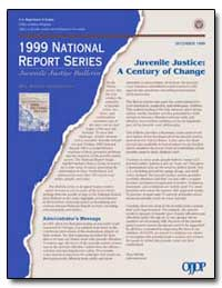 1999 National Report Series by Bilchik, Shay