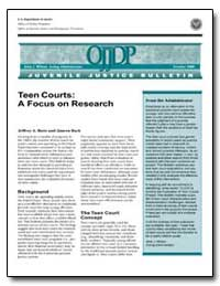 Teen Courts : A Focus on Research by Butts, Jeffrey A., Ph. D.