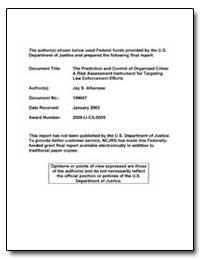 Federal Funds Provided by the U. S. Depa... by Albanese, Jay S.