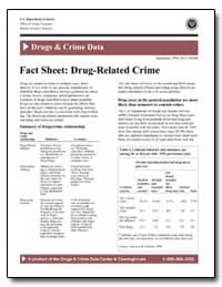 Drugs and Crime Data by Government Printing Office