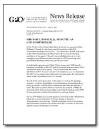 William L. Boesch, Jr., Selected as Gpo ... by Government Printing Office