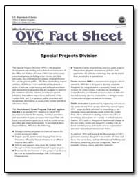 Ovc Fact Sheet Special Projects Division by Government Printing Office