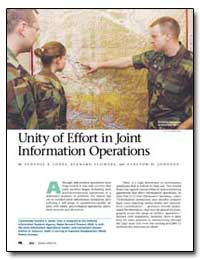 Unity of Effort in Joint Information Ope... by Flowers, Bernard