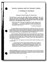 Security Assistance and Low Intensity Co... by Glynn, Francis M., Lieutenant Colonel