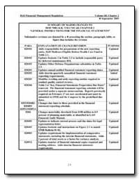 Summary of Major Changes to Dod 7000.14-... by Department of Defense