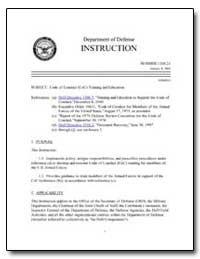 Code of Conduct (Coc) Training and Educa... by Department of Defense