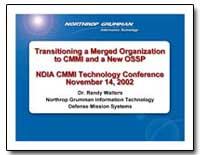 Transitioning a Merged Organization to C... by Walters, Randy, Dr.