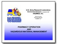 Pharmacy Operation and Hazardous Materia... by Department of Defense