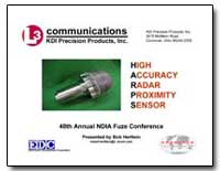 High Accuracy Radar Proximity Sensor by Hertlein, Bob