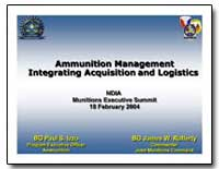 Ammunition Management Integrating Acquis... by Izzo, Paul S., Colonel