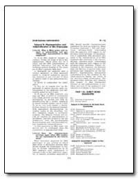 Subpart B : Representation and Indemnifi... by Small Business Administration