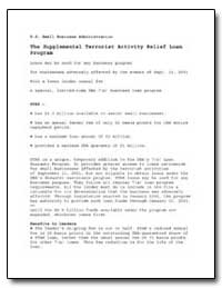 The Supplemental Terrorist Activity Reli... by Small Business Administration