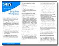 Drug Free Workplaces by Small Business Administration