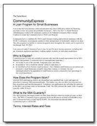 Community Express a Loan Program for Sma... by Small Business Administration