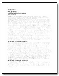 Ace-Net the Angel Capital Electronic Net... by Small Business Administration