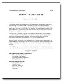 Child Day-Care Services by Small Business Administration