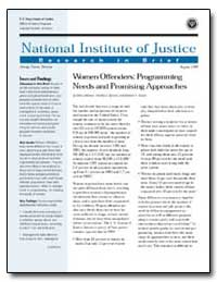 Women Offenders : Programming Needs and ... by Travis, Jeremy