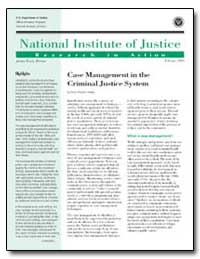 Case Management in the Criminal Justice ... by Travis, Jeremy