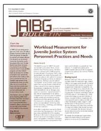 Workload Measurement for Juvenile Justic... by Bilchik, Shay