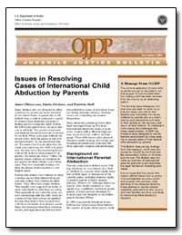 Issues in Resolving Cases of Internation... by Girdner, Linda