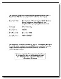 Development of New Analytical Buffer Sys... by Department of Justice