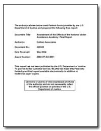 Assessment of the Effects of the Nationa... by Department of Justice
