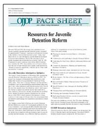 Resources for Juvenile Detention Reform by Lubow, Bart