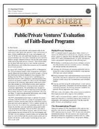 Public / Private Ventures Evaluation of ... by Ericson, Nels