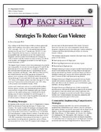Strategies to Reduce Gun Violence by Sheppard, David
