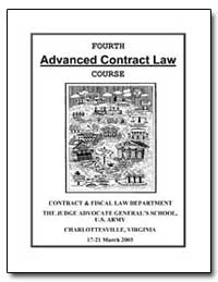 Fourth Advanced Contract Law Course by Department of Justice