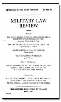 Military Law Review by Prugh, George S.