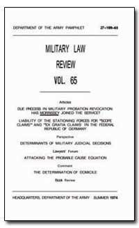 Military Law Review Volume 65 by Young, Rufus C., Major