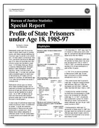 Profile of State Prisoners under Age 18,... by Strom, Kevin J.